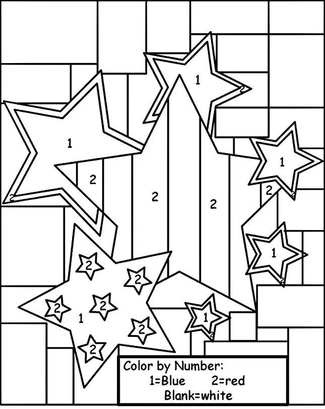 Звезды, раскраска на английском