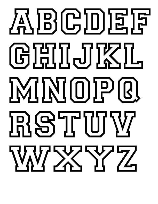 Раскраски английские буквы, алфавит