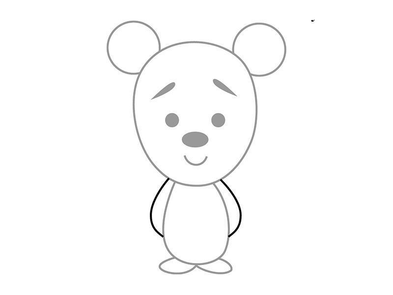 Как нарисовать для детей медвеженка