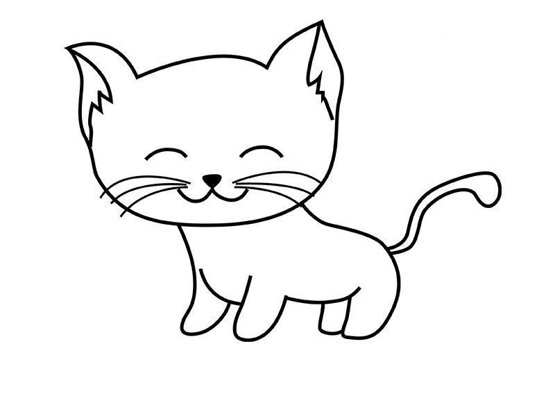 Как нарисовать для детей кошечку