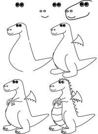 Как нарисовать для детей дракончика