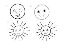 Как нарисовать для детей солнышко