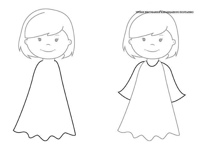 Как нарисовать для детей девочку
