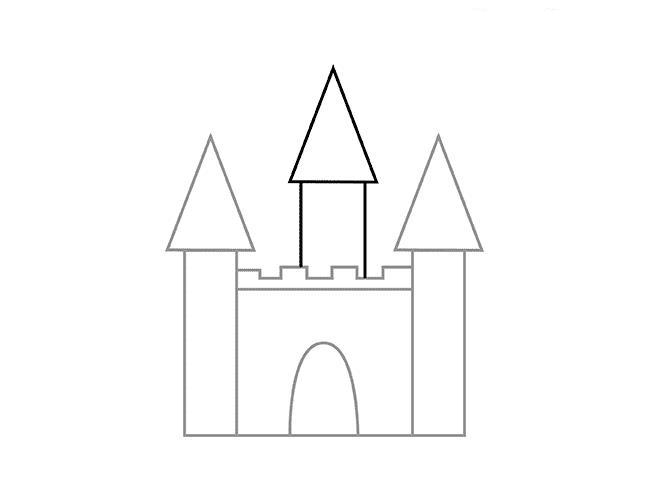 Как нарисовать для детей замок
