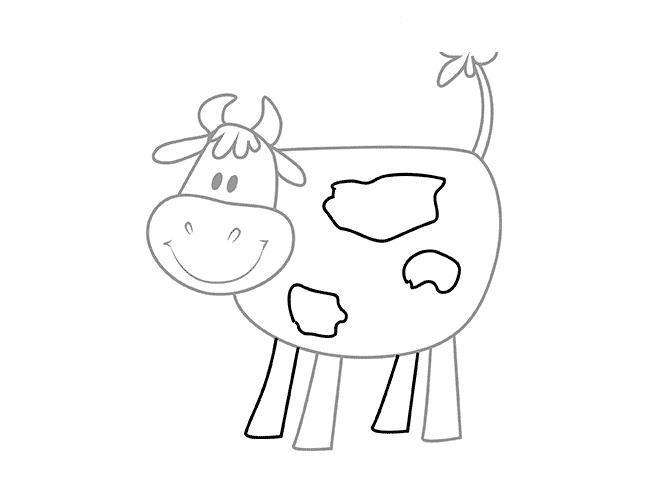 Как нарисовать для детей корову