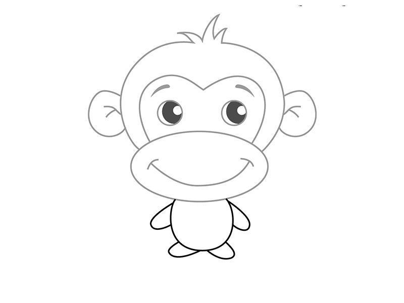 Как нарисовать для детей обезьянку