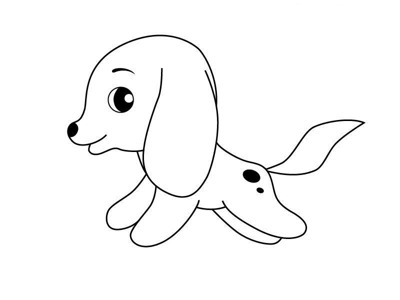 Как нарисовать для детей щеночка