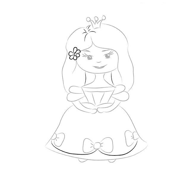 Как нарисовать для детей принцессу