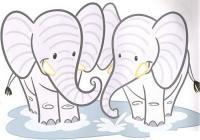 Штриховки для детей, слоны