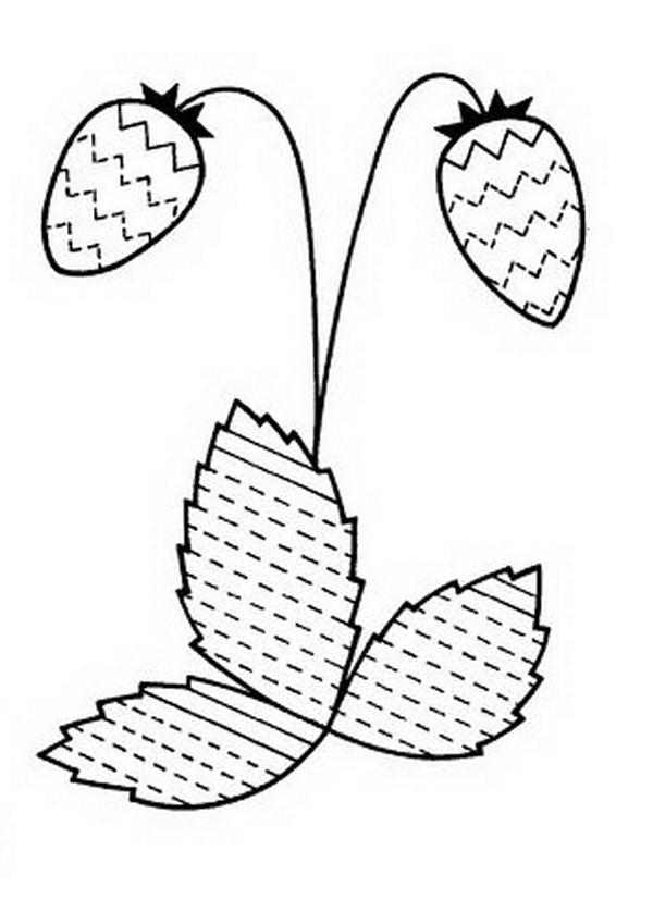 Штриховки для детей, землянички