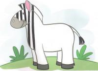 Штриховки для детей, дорисуй зебре полоски