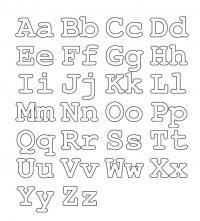 Раскраски алфавит английский