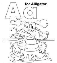 Буква а, аллигатор