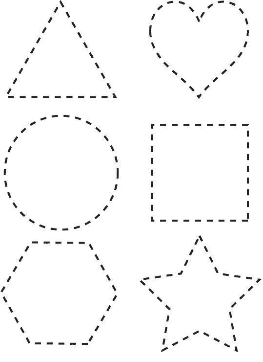 Треугольник, сердце. круг