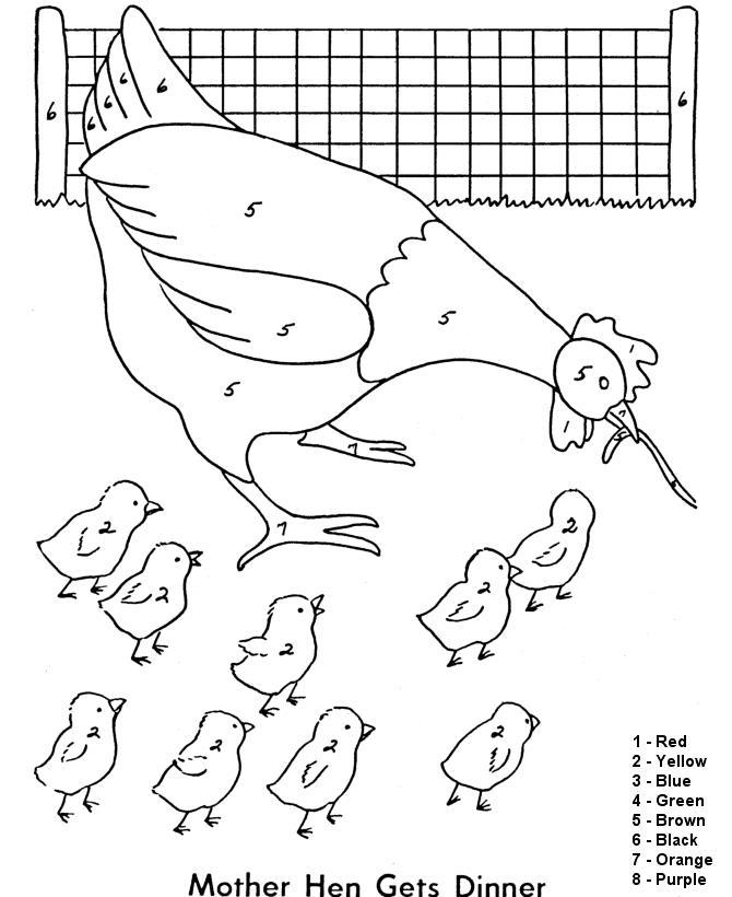 Курица с цыплятами