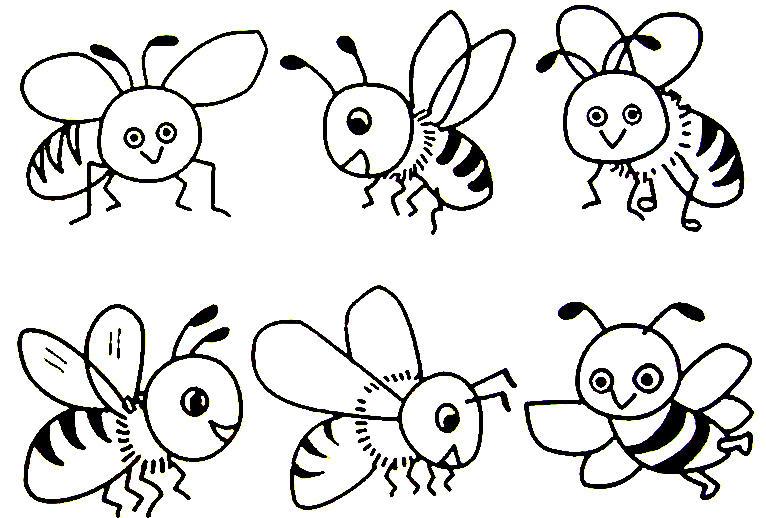 Учимся считать, пчелки