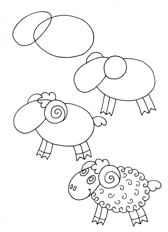 Как нарисовать барашка
