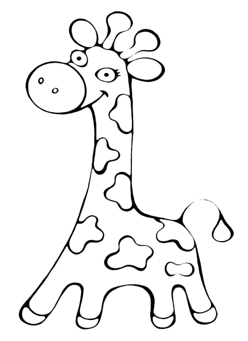 Учим предметы раскраски, жираф
