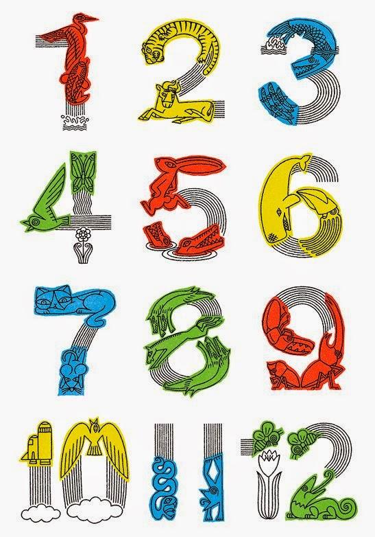 Карточки цифра 1 до 12