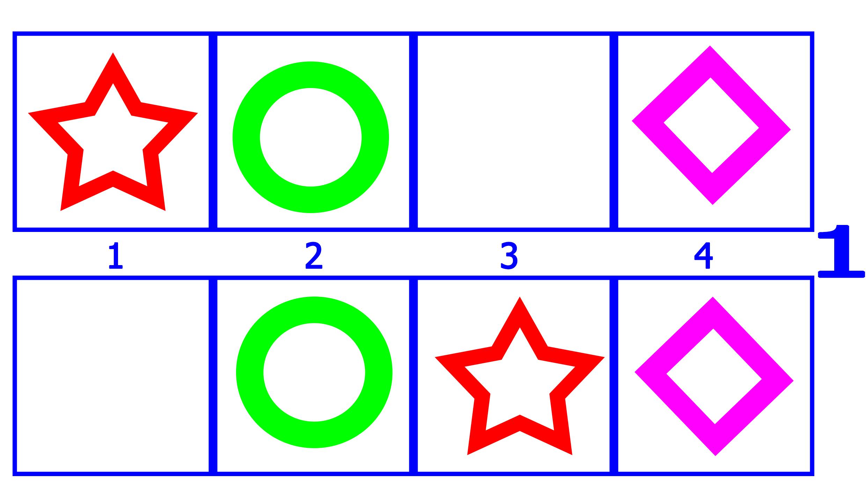 Карточки фигуры, звезда, круг, ромб
