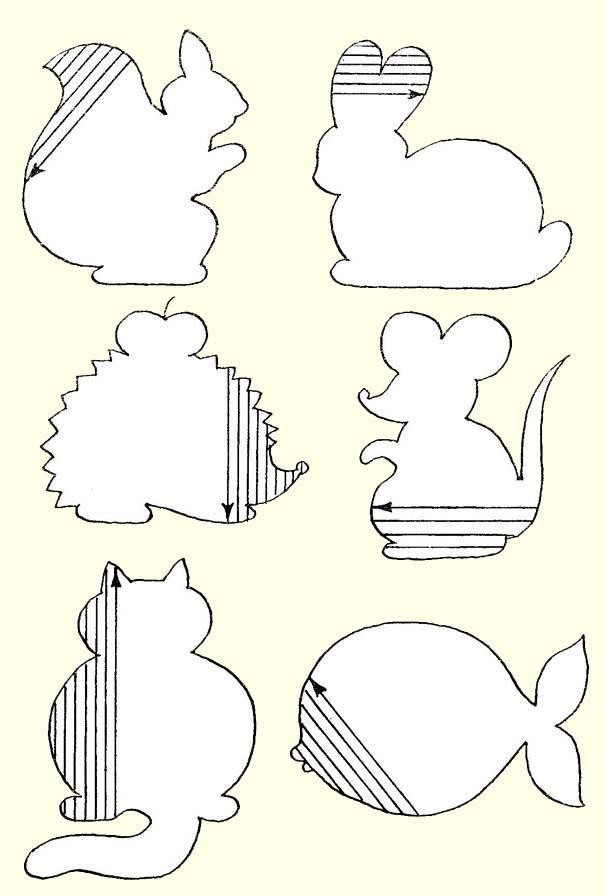 Подготовка руки к письму штриховка, заштрихуй фигурки белки, зайца, ежа, мыши, кота, рыбы