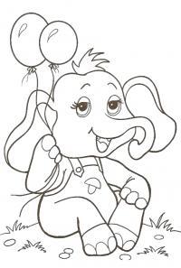 Слоненок с шарами