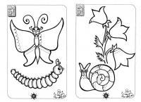 Подготовка руки к письму штриховка, бабочка, гесеница, цветочек, улитка