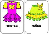 Карточки одежда