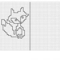 Графический диктант по клеточкам сложные, лиса