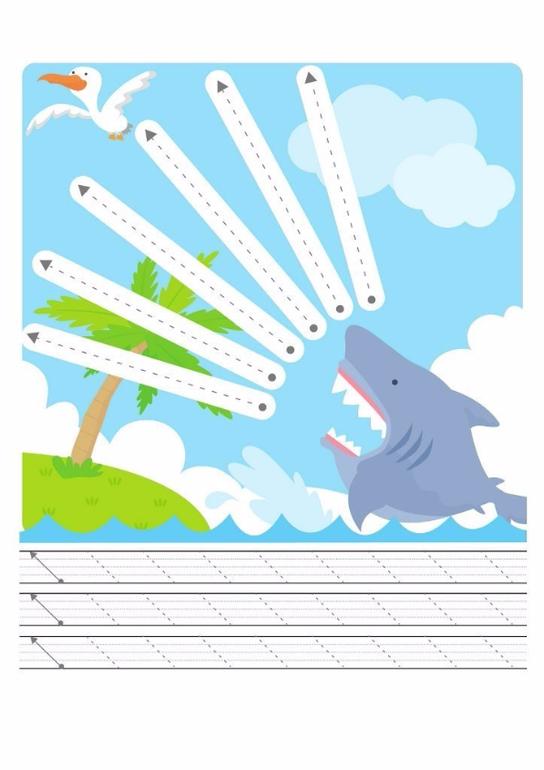 Рык акулы, прямые линии