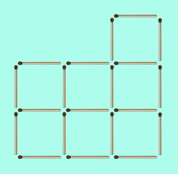 Фигуры из счетных палочек, кубики